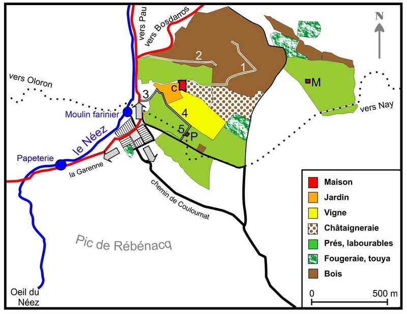 Plan terres seigneurie